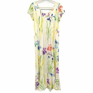 Jams World Hawaiian Iris Print Maxi Dress